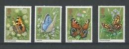 Grande-Bretagne: 992/ 995 **  Papillons - Farfalle