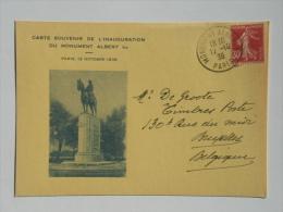 Inauguration Monument Albert I à Paris - Belgique
