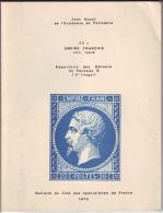 GUYOT Jean: 20 C Empire Français Non Lauré, Répertoire Des Défauts Du Panneau D (3° Tirage) - Philatélie Et Histoire Postale