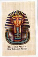 The Golden Mask Od King Tut Ankh Amoun - Papyrus ? Colle Sur Carton 2 Volets (67944) - Archéologie