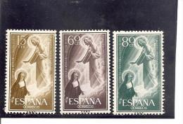 España/Spain-(MNH/**) - Edifil  1206-08 - Yvert  897-99 - 1951-60 Nuevos & Fijasellos