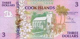 Cook Island 3 Dollars 1992 Pick 7 UNC - Cook Islands