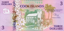 Cook Island 3 Dollars 1992 Pick 7 UNC - Islas Cook