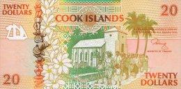 Cook Island 20 Dollars 1992 Pick 9 UNC - Cook Islands