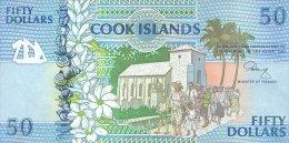 Cook Island 50 Dollars 1992 Pick 10 UNC - Cook Islands