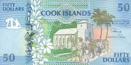 Cook Island 50 Dollars 1992 Pick 10 UNC - Islas Cook