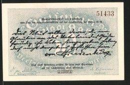 Billet De Nécessité Kahla 1921, 50 Pfennig, Vue Aérienne Der Leuchtenburg - Lokale Ausgaben