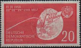 DDR RDA ALLEMAGNE DEMOCRATIQUE 437 ** MNH Vol De La Sonde LUNA 2 Espace Kosmos Space - Space