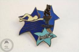 Coca Cola - Atlanta 1996 Swimming - Pin Badge #PLS - Coca-Cola