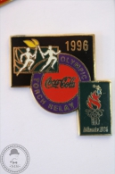 Coca Cola Atlanta 1996 Olympic Summer Games - Torch Relay - Enamel Pin Badge #PLS - Coca-Cola