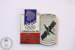 Coca Cola Lillehammer 94 Olympic Games - Aquarius Advertising - Pin Badge #PLS - Coca-Cola