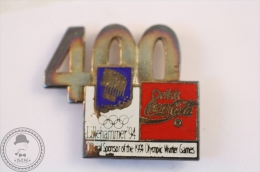 400 Lillehammer 94  Coca Cola Official Sponsor Of The Olympic Winter Games - Pin Badge #PLS - Coca-Cola