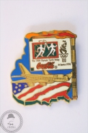 Atlanta 1996 Olympic Games Torch Relay - USA Airplane - Coca Cola Pin Badge #PLS - Coca-Cola