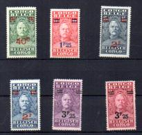 Henri Morton Stanley Surchargé, 162 / 167*, Cote 16,50 €, - 1923-44: Nuovi