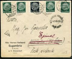 FRANCE POSTE RESTANTE - DIVERS TP ALLEMAGNE / LETTRE DE BERLIN LE 8/3/1934, POUR EPINAL  - TB - 1801-1848: Precursores XIX