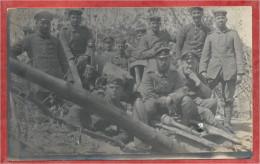 LANGEMARK - Carte Photo Militaire Allemande - Stellung - Soldats Allemands - Guerre 14/18 - Langemark-Poelkapelle