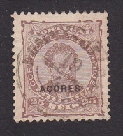 Azores, Scott #50b, Used, King Luiz Overprinted, Issued 1882 - Azores