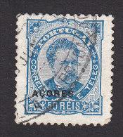 Azores, Scott #52c, Used, King Luiz Overprinted, Issued 1882 - Açores