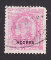 Azores, Scott #61, Used, King Luiz Overprinted, Issued 1887 - Azores