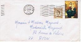 AVON * DEPART WEST WIMBLETON POUR AVON  1967 - Marcophilie (Lettres)