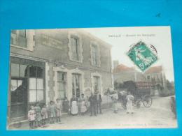 41) Cellé  - Route De Savigny ( Café Restaurant LEBOUC ) Attelage  - Année 1912 - EDIT- Lebouc - Autres Communes