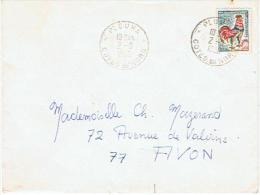 AVON * DEPART PLOUHA Cote Du Nord  POUR AVON  1966 - Marcophilie (Lettres)
