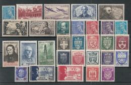 Timbres France Neufs ** - Année 1942 Complète - France