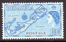 Bermuda 1953 1/3d Die II (Sandys) Definitive, MNH (A) - Bermuda