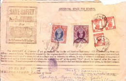 British India - Telegram - Booked From Amritsar, India To Sadar Bazar, Lahore - Stamps