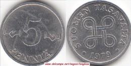 FINLANDIA 5 Pennia 1979 KM#45a - Used - Finnland