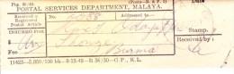 Malaya - 1905 - Receipt Of Telegram - Malaya (British Military Administration)