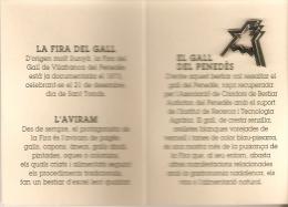 PIN DE LA FIRA DEL GALL AÑO 1993 (GALLO-COQ) - Animales