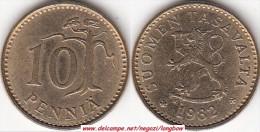 FINLANDIA 10 Pennia 1982 KM#46 - Used - Finlandia