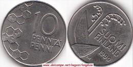 FINLANDIA 10 Pennia 1990 KM#65 - Used - Finlandia