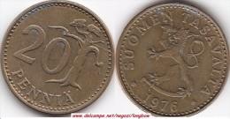 FINLANDIA 20 Pennia 1976 KM#47 - Used - Finlandia
