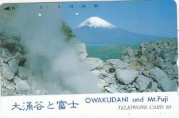 JAPAN - Volcano, Owakudani And Mt. Fuji(111-016), Used - Vulcani