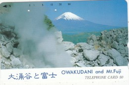 JAPAN - Volcano, Owakudani And Mt. Fuji(111-016), Used - Vulkane