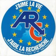 Association Santé / ARC/ J'aime La Vie/ J'aide La Recherche  / Années 1980   ACOL46 - Stickers