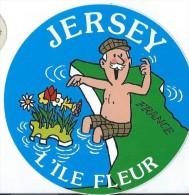 Tourisme/ Jersey/L'Ile Fleur  / Années 1980   ACOL52 - Stickers