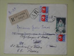 Fleurance  Affranchissement Recommande AR  Pour Pessac 1966 - Handstempel