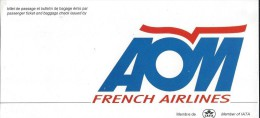 A�ronautique/ AOM/ French airlines / ann�es 1980   ACOL54