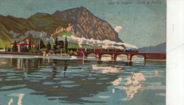 LUGANO , Ponte Di Melide , Treno - TI Tessin