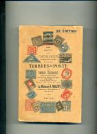 CATALOGUE DE TOUS LES TIMBRES POSTE JUILLET 1919 MAISON MAURY BOULEVARD MONTMARTRE A PARIS 58e EDITION - Stamp Catalogues