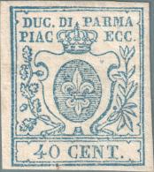DUCATO DI PARMA - FRANCOBOLLO DA 40 CENT. NUOVO * (11) FIRMATO - Parma