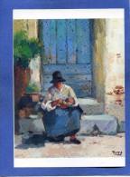 NC.CP - Peinture - La Mammée Par TORRE - Galerie De La Colombe -  Vieille Femme Et Enfant - 2 Scans - Peintures & Tableaux