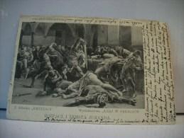 JUBILEUSZ SIENKIEWICZA - Z ALBUMU KRZYZACY - WYDAWNICTWA KRAJ W. OBRAZACH - ROZPACZ I ZEMSTA JURANDA. - 1900 - - Polonia