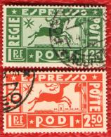 Rodi - 1936 - Serie Espressi - Special Delivery Stamps - Egeo (Rodi)
