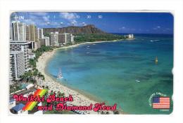 HAWAII WAIKIKIBEACH SUNSET Télécarte Japonaise - Hawaii