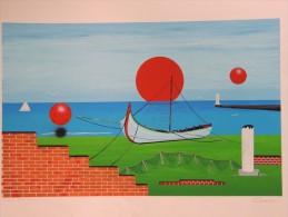 X CHIESA RENATO NATALE SERIGRAFIA BARCA 100X70 Firma CERTIFICATO Arte Moderna E Contemporanea - Stampe