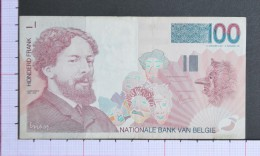 BELGIUM  100  FRANCS  1995-2001    - 2 Scans (Nº06944) - 100 Franchi